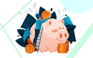 hombre ahorrando en su cuenta bancaria